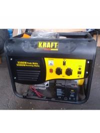 Бензиновый генератор электростанция с электростартером 5 кВт KRAFT KPG-6500 E